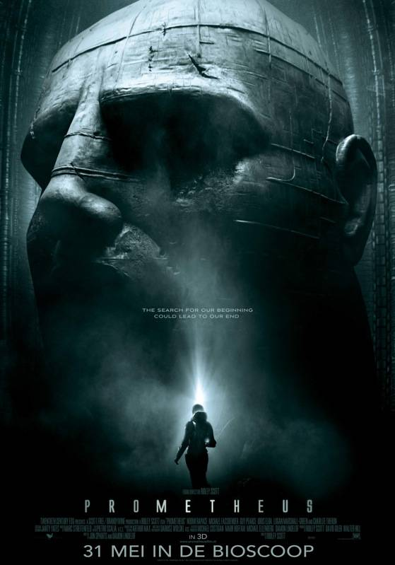 Prometheus poster, copyright in handen van productiestudio en/of distributeur
