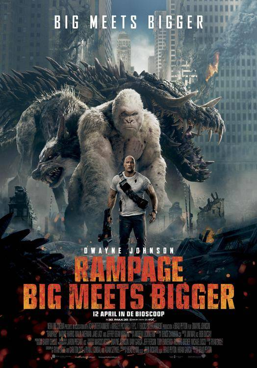 Rampage: Big Meets Bigger poster, © 2018 Warner Bros.